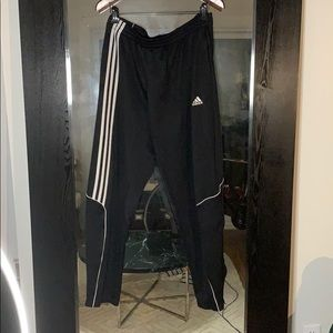 Adidas trackpants. Skinny fit with zips.
